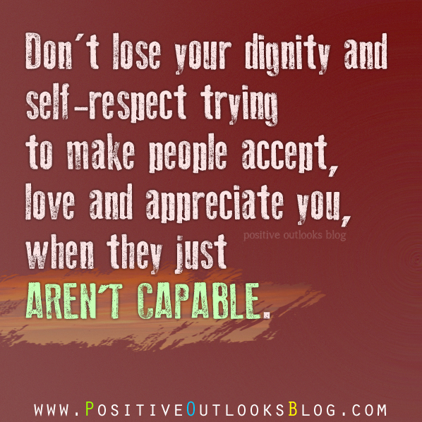 Self respect positive outlooks blog