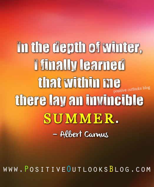 Albert Camus Summer Quote: Positive Outlooks Blog