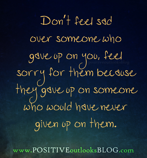 don't feel sad