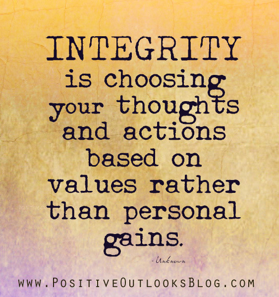 integrity and student health Integrity includes our actions in our studies as well as the rest of our activities at   for out-of-class integrity, please visit the office of ethics and student conflict.