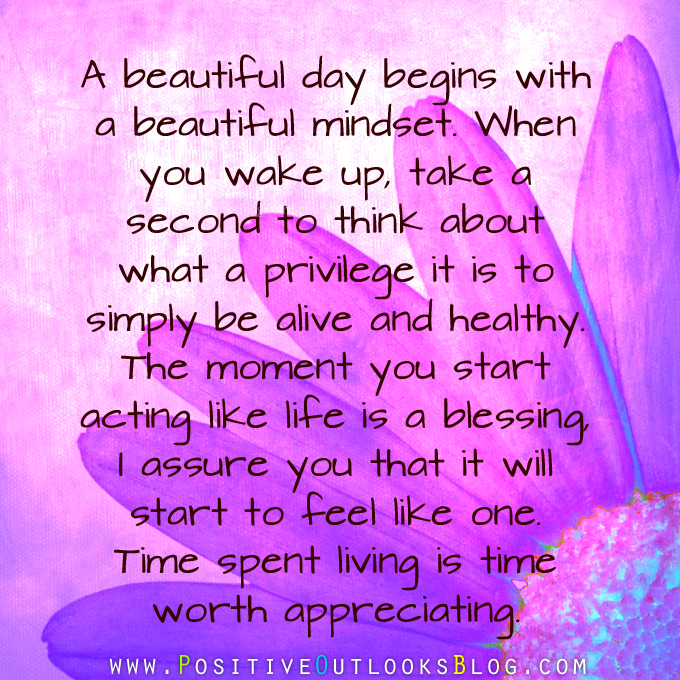 a beautiful day begins with a beautiful mindset quote - photo #10