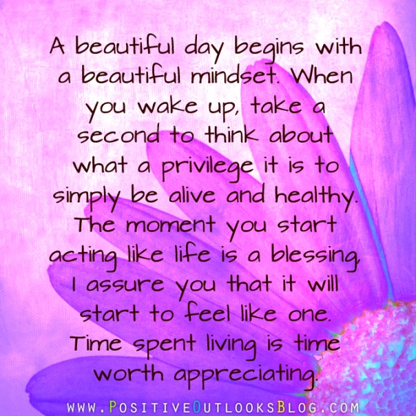 A Beautiful Day Begins With A Beautiful Mindset Quote garden of thoug...