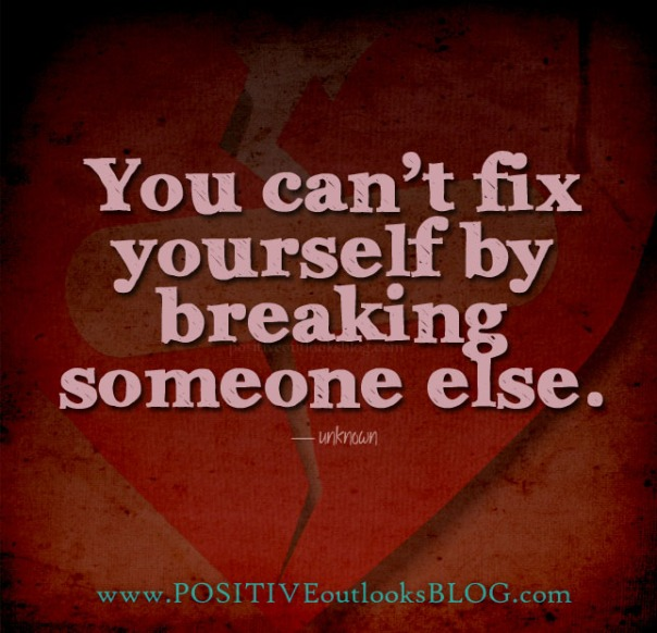 you can't fix yourself