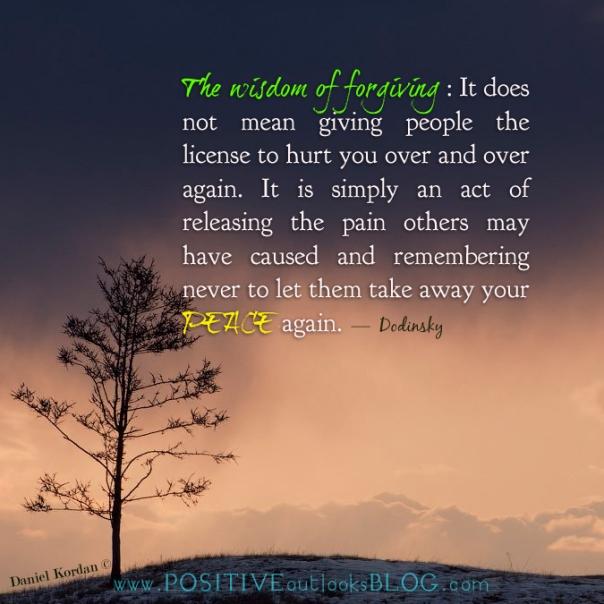 the wisdom of forgiving