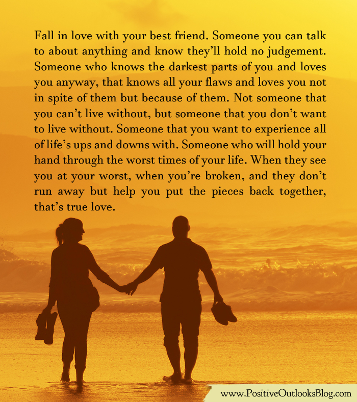 falling in love with your best Advice to a woman who's in love with her married best  1 please do not make this about you and how you are unworthy of your best friend's love and attraction .