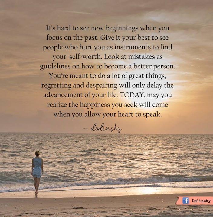 You Deserve New Beginnings | Positive Outlooks Blog